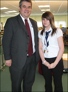 Tony Wright MP for Great Yarmouth at Lynn Grove High School in Gorleston for BBC School Report 2009