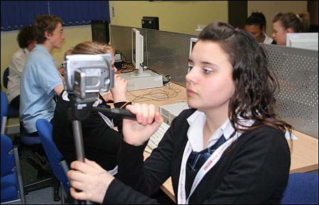 Students at the Charles Burrell Humanities School in Thetford reporting for BBC School Report 2009