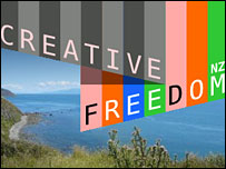Website of Creative Freedom Foundation (New Zealand)