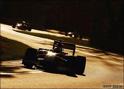 Renault's Fernando Alonso in the sunlight at Albert Park