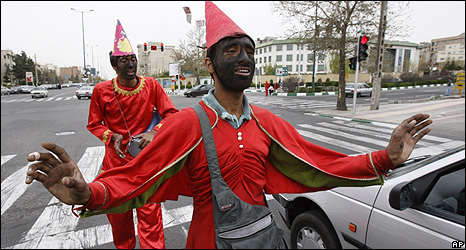 Nowruz clowns in central Tehran
