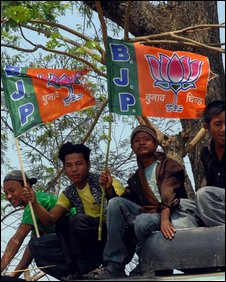 BJP supporters in Assam