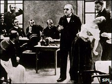 Charcot demonstrating hysteria