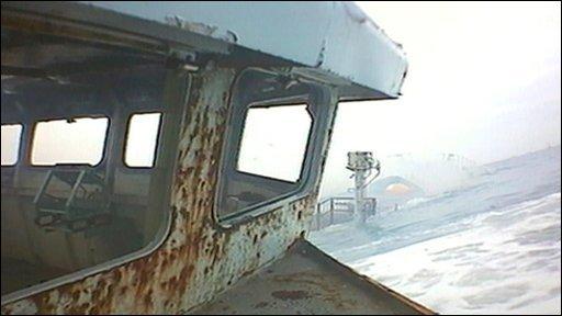 HMS Scylla being sunk