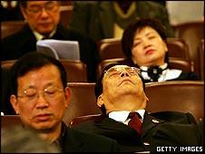 Delegates asleep