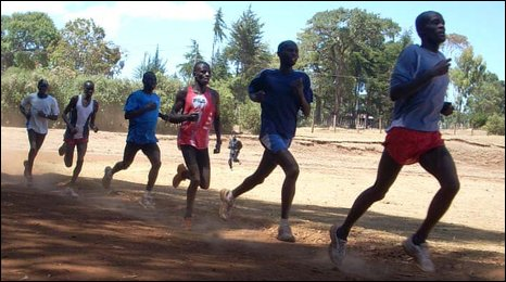 Athletes in Iten