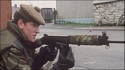 British soldier in Armagh 1976