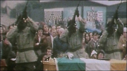 IRA gunmen at hunger strike funeral 1981