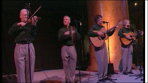Band play irish music in New York 1998