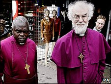 Archbishop of York Dr John Sentamu (left) and Archbishop of Canterbury Dr Rowan Williams (right)
