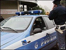 Italian policeman and car (file pic)