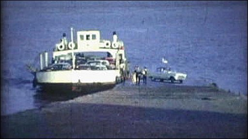 Severn car ferry at Beachley 1963