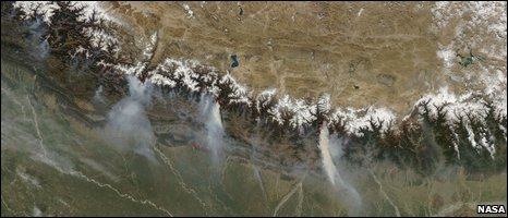 Nepal satellite image (Nasa)