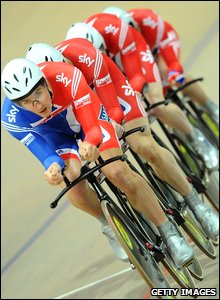 GB men's pursuit team