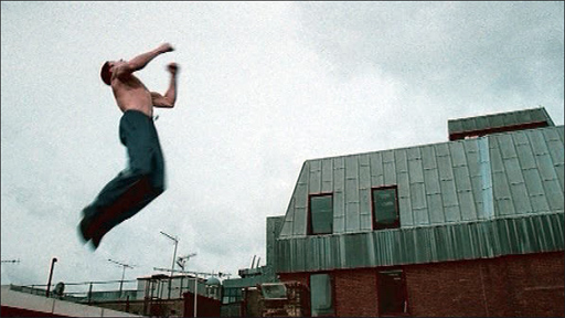 Parkour man in BBC advert