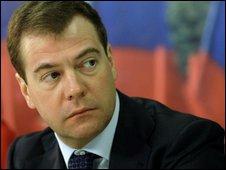 Russian President, Dimitry  Medvedev.