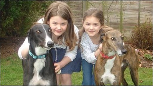 Madeleine and Maisie with their dogs