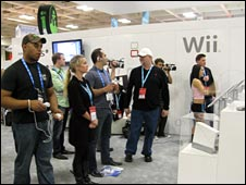 people playing the Wii