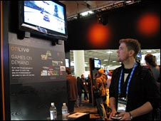 Student playing OnLive