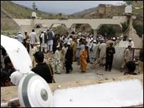 بقايا المسجد المدمر