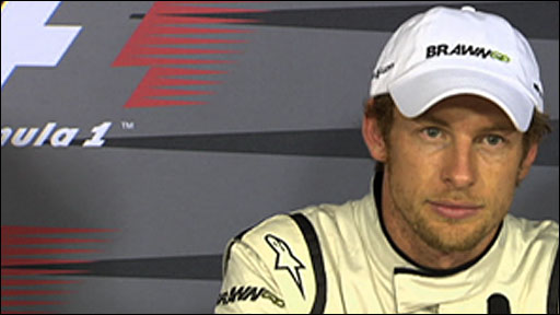 Brawn GP's Jenson Button