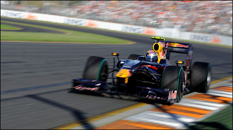 Red Bull's Sebastian Vettel storms to third place