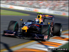 Sebastian Vettel is third in the Red Bull