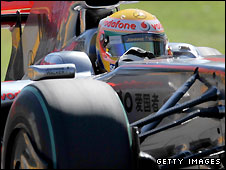 Lewis Hamilton had gear box trouble in qualifying