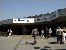 Reading railway station