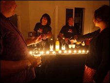 Revellers in Auckland, New Zealand - photo Earth Hour