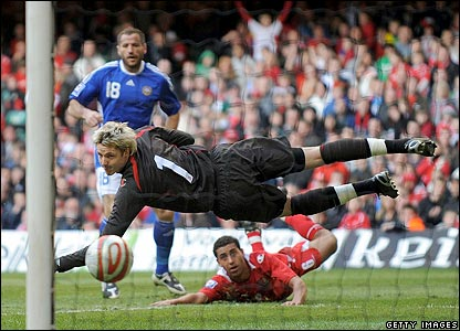 Shefki Kuqi completes the win for Finland as he neatly finishes from a tight angle in the 90th mi