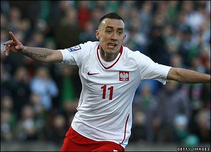 Poland's Ireneusz Jelen celebrates