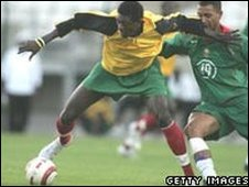 Emmanuel Adebayor in international action