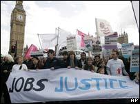 Manifestaci�n en Londres
