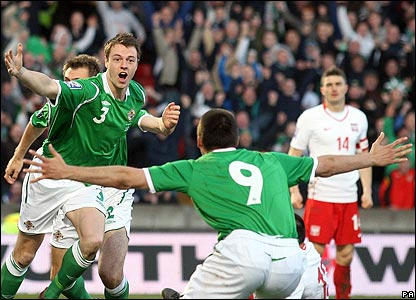 Northern Ireland's Jonny Evans celebrates