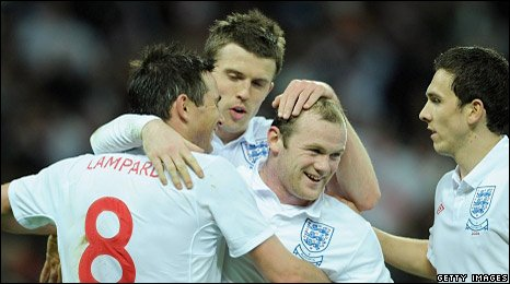 Wayne Rooney scored twice as England eased to victory