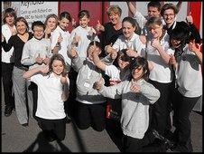 Schoo Reporters at Filey School in  in North Yorkshire