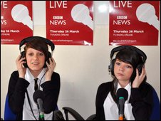 School Reporters from Ambrose Barlow High School in Swinton, Lancashire