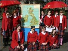 School Reporters from t Craigholme School in Glasgow