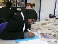 A School Reporter at Wells High School in Southall