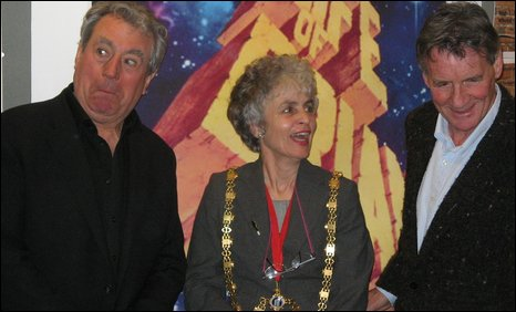 Terry Jones, Sue Jones-Davies and Michael Palin