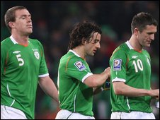 Richard Dunne, Stephen Hunt and Robbie Keane