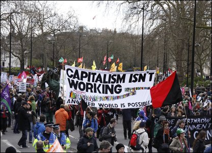 G20 protesters in London