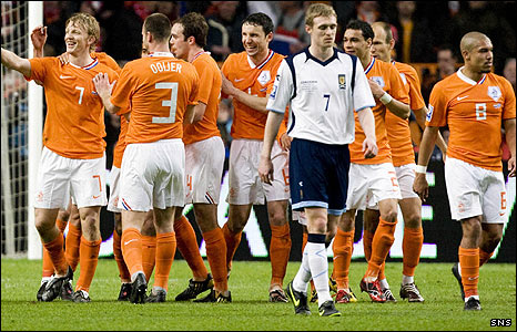Holland were comfortable winners against Scotland