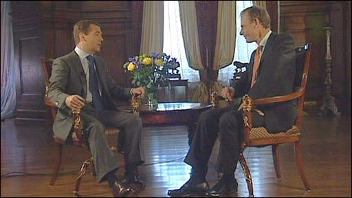 Dmitry Medvedev and Andrew Marr