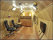 Uno de los cuartos de la nave simulada de Mars 500