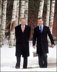 Andrew Marr (left) and President Medvedev