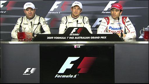 Rubens Barrichello, Jenson Button, Jarno Trulli