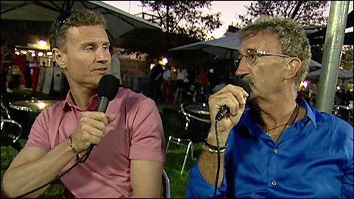 BBC Sport Formula 1 pundits David Coulthard, Eddie Jordan
