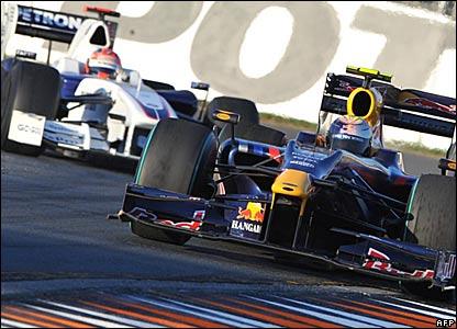 Robert Kubica, BMW Sauber; Sebastian Vettel, Red Bull